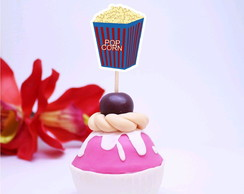 Topper para doces - cinema Hollywood pipoca
