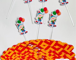 Kit wrappers + toppers para mini cupcakes Circo