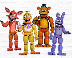 Aplique Five Nights at Freddy's em Papel 3,5 cm