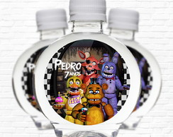 Rótulo Five Nights at Freddy's Água Ouro Fino