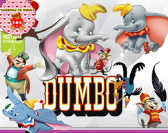 Kit Digital Dumbo Scrap png Clipart Vetores