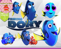 Kit Digital Procurando Dory Clipart Scrap PNG 300 DPI
