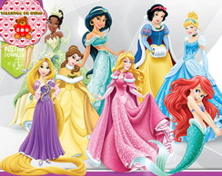 Kit Digital Princesas da Disney Clipart Scrap PNG