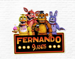 Adesivo Five Nights at Freddie's 4 cm