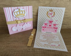Convite pop-up realeza/princesa