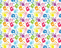Papel De Parede Maos Coloridas No Elo7 C M Decoracoes 9e1c58