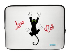 Capa para Notebook Love Cat