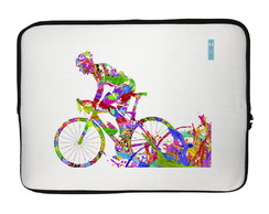 Capa para Notebook Bicicleta Multicolorida