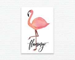 Quadrinho 19x27 Flamingo