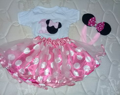 Saia, Body e Tiara Minnie