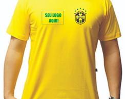 ... Camiseta Brasil Copa do Mundo camiseta amarela! 90c66b5942daa