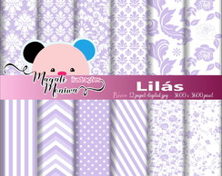 LILÁS papel digital para scrapbook