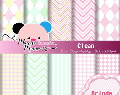 CLEAN papel digital para scrapbook
