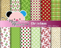 CHRISTMAS papel digital para scrapbook