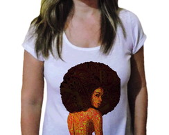 Camiseta Feminina Afro Black Power art - 21 Camiseteria