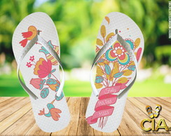 Chinelo Floral Dia das Maes