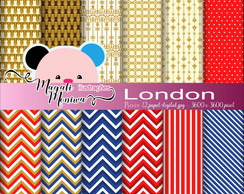 LONDON papel digital para scrapbook