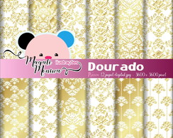 DOURADO papel digital para scrapbook