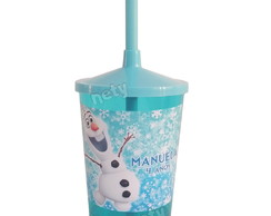 Copo shake Olaf do Frozen 300ml personalizado