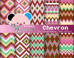 Chevron Papel digital para scrapbook