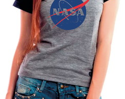 Camiseta Baby Look Nasa Nerd Geek