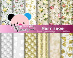 MARRIAGE Papel digital para scrapbook