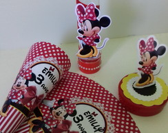 KIT MINNIE VERMELHA 30 PÇS