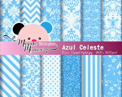Azul Celeste papel digital