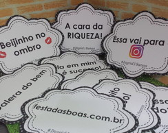 Placas Divertidas para foto Chanel