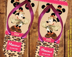 Chinelo Personalizado Minnie Safari (Cód.: 0564)