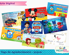 Arte Digital - Tags de Agradecimento