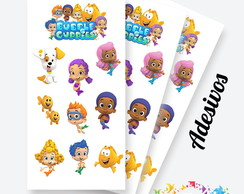 Cartela de Adesivos Bubble Guppies