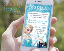 Convite digital de whatsapp - Frozen