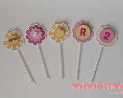Mini topper para doces - Tema Sunshine