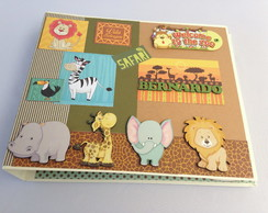 Álbum scrapbook tema safari