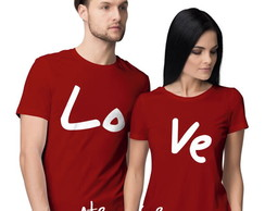 Kit 2 camisetas Love Namorados Casal