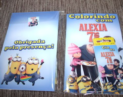 Kit colorir minions
