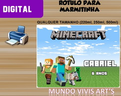 RÓTULO DIGITAL PARA MARMITINHA DO MINECRAFT