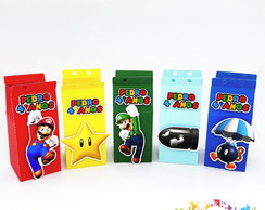 Mini Caixa Milk Super Mario Bros