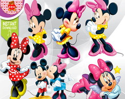 Kit Digital Minnie Scrap Scrapbook Cliparts PNG