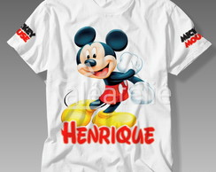 Camiseta Mickey Mouse Infantil Personalizada