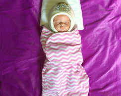 Swaddle Out/Inverno Chevron Rosa