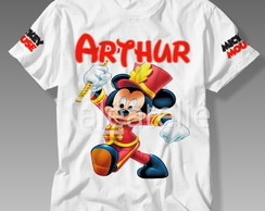 Camisa Mickey Mouse Infantil Personalizada