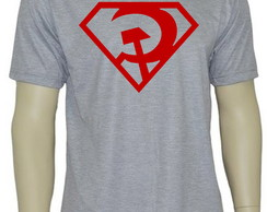 Camiseta Red Son Superman (COR CINZA MESCLA)