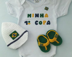 Kit body, boné e chinelo primeira Copa