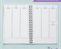 Miolo digital planner permanente (sem data) A5 ou A6
