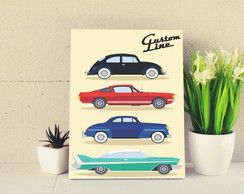 Placas Decorativas Carros Poster propaganda 03