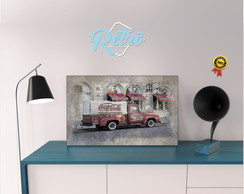 Placas Decorativas Carros Retro Vintage 03
