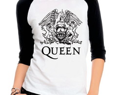 Camiseta Raglan 3/4 Queen Banda Rock