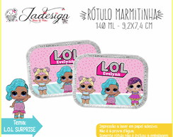 Rótulo Marmitinha 140ml - L.O.L SURPRISE